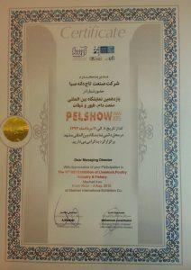 گواهینامه حضور در نمایشگاه مشهد